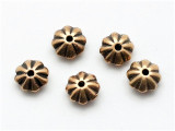 Daisy Spacer, Brass Metalized Plastic Bead 8mm (MP73)