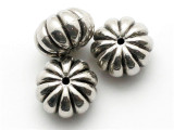 Pumpkin, Silver Metalized Plastic Bead 16mm (MP27)