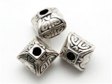 Lantern, Silver Metalized Plastic Bead 12mm (MP28)