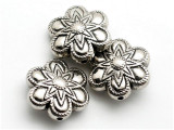 Flower, Silver Metalized Plastic Bead 25mm (MP34)