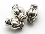 Fluted, Silver Metalized Plastic Bead 20mm (MP40)