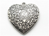 Heart, Silver Metalized Plastic Pendant (MP58)