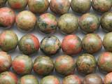 Unakite Round Gemstone Beads 10mm (GS1679)