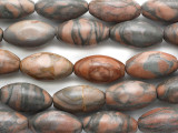 Picasso Jasper Ellipsoid Gemstone Beads 32mm (GS1798)