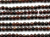 Garnet Faceted Round Gemstone Beads 4mm (GS1773)