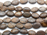 Bronzite Oval Tabular Gemstone Beads 16mm (GS1791)