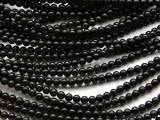 Black Onyx Round Gemstone Beads 4mm (GS1732)