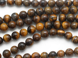 Tiger Eye Round Gemstone Beads 10mm (GS1741)