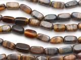 Tiger Eye Rectangular Block Gemstone Beads 18mm (GS1805)