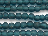Teal Blue Recycled Glass Beads 13-15mm - Africa (RG67)