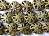 Ornate Brass Triangular Beads 20mm - Ghana (ME138)