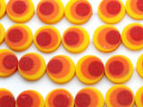 Orange & Red Resin Beads 20mm (RES407)