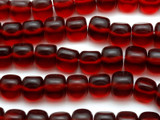Cherry Red Triangular Resin Beads 15mm (RES409)