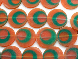 Orange, Green & Red Resin Beads 30mm (RES419)