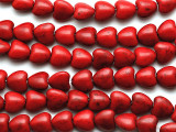 Red Howlite Heart Beads 10mm (GS1908)