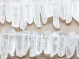 Natural Quartz Crystal Graduated Stick Gemstone Beads 20-40mm (GS1969)