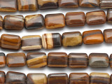Iron Zebra Jasper Rectangular Tabular Gemstone Beads 16mm (GS1925)