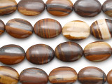 Iron Zebra Jasper Oval Tabular Gemstone Beads 20mm (GS1926)