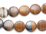 Iron Zebra Jasper Round Tabular Gemstone Beads 25mm (GS1927)