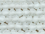 Frosty Clear Recycled Glass Beads 14-16mm - Africa (RG122)
