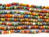 "Multi-Color Glass Beads - 44"" strand (JV9003)"