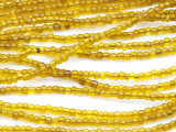 "Transparent Amber Glass Beads - 44"" strand (JV9006)"