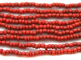 "Red Glass Beads - 44"" strand (JV9009)"