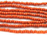 "Orange Antiqued Glass Beads - 44"" strand (JV9014)"