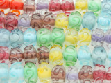Transparent Multi-color w/Swirls Lampwork Glass Beads 11-12mm (LW1316)