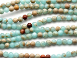 Aqua Terra Jasper Round Gemstone Beads 4mm (GS2025)