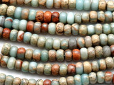 Aqua Terra Jasper Rondelle Gemstone Beads 6mm (GS2028)