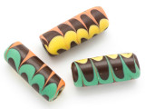 Green, Brown, Yellow and Orange Glass Bead 44mm (CB298)