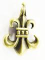 Brass Inverted Fleur-de-Lis Pendant (TA79)