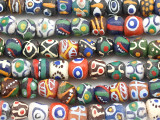 Assorted Sandcast Glass Beads 9-12mm (SC776)