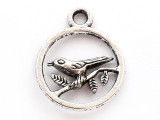 Bird on Branch - Pewter Pendant (PW1016)