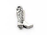 Cowboy Boot - Pewter Pendant (PW596)