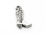 Cowboy Boot - Pewter Pendant (PW596)