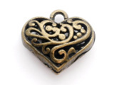 Brass Heart - Pewter Pendant 20mm (PW605)