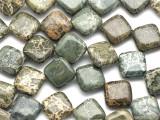 Alligator Skin Jasper Diamond Tabular Gemstone Beads 14mm (GS2160)