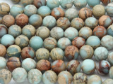Aqua Terra Jasper Round Gemstone Beads 10mm (GS2221)
