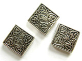 Pewter Bead - Ornate Square 19mm (PB164)