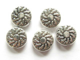 Pewter Bead - Sun 10mm (PB155)
