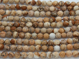 Picture Jasper Faceted Round Gemstone Beads 6mm (GS2240)