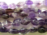 Amethyst Faceted Bicone Gemstone Beads 16mm (GS2263)