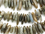 Labradorite Stick Gemstone Beads 10-20mm (GS2317)