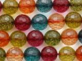 Multi-Color Quartz Faceted Round Gemstone Beads 10mm (GS2320)