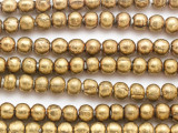 Brass Irregular Round Metal Beads 8mm - Ethiopia (ME244)