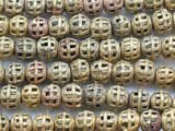 Ornate Brass Round Beads 13-15mm - Ghana (ME259)