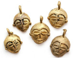 Brass Mask Pendant 26-30mm - Ghana (ME320)