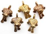 Brass Frog Pendant 30-32mm - Ghana (ME321)